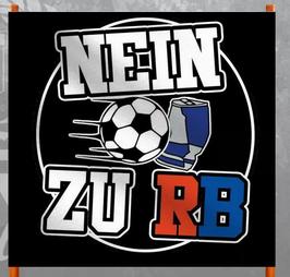 Nein zu RB Schwarz Doppelhalter /Zaunfahne