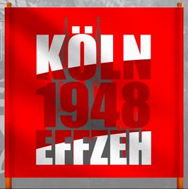 Köln 1948 Dom Hintergrund Doppelhalter