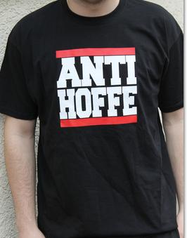 Anti Hoffe Balken Shirt Schwarz