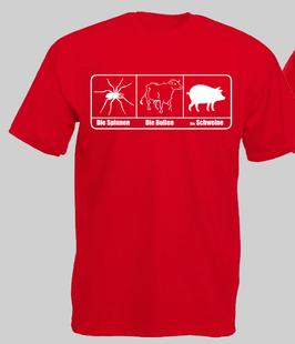 ACAB Schweine Shirt ROT