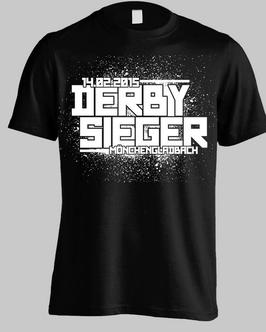 Gladbach Derbysieger Datum Shirt Schwarz