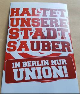 150 Berlin rot Haltet unsere Stadt sauber Aufkleber