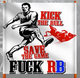 Kick the Bull Doppelhalter /Zaunfahne