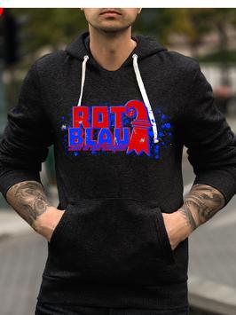 Basel Rot Blau Hoodie