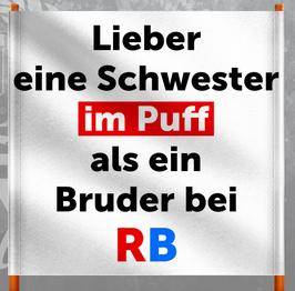 Anti RB Puff Doppelhalter /Zaunfahne