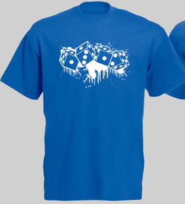 Würfel Blau Shirt