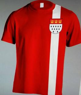 Köln Streifen Shirt Senkrecht Shirt Rot