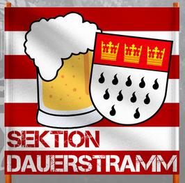 Köln Sektion Dauerstramm Doppelhalter