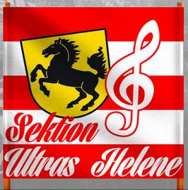Stuttgart Sektion Ultras Helene Doppelhalter