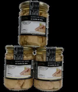Bonito del Norte en aceite de oliva  (tarro de cristal grande - 12 tarros)