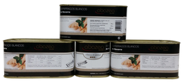 Espárragos blancos D.O. Navarra  (lata grande - 12 latas, 8-12 frutos por lata)