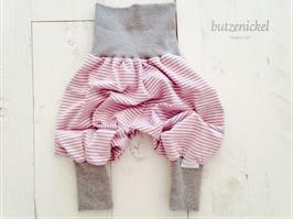 Pumphose rosa-grau gestreift