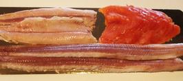 Fischplatte (Aalfilet, Forellenfilet, Lachsfilet)