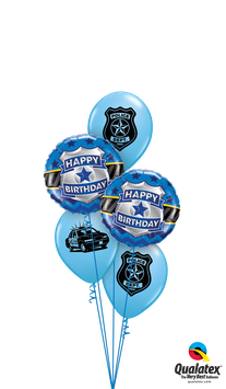 "Ballons CLASSIC ""Police Bday"""