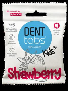 DENTTABS - Strawberry kids mit Fluorid