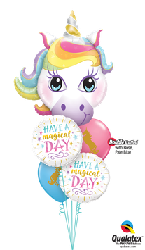 Happy Birthday Rainbow Unicorn and Stars