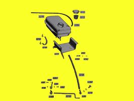 Stütze Ölbehälter  (Hydraulik)   Teil 1216 / Teil 1277
