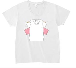 四つ袖TシャツデザインプリントTシャツ