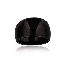 Bague céramique noire