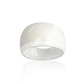 Bague céramique blanche