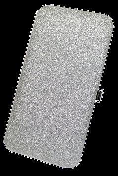 Tweezer Box Glitter Silver