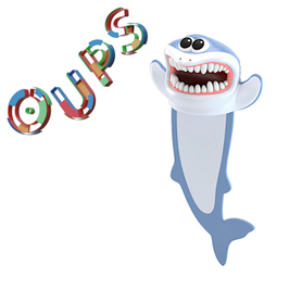 MARQUE-PAGE 3D OUPS - REQUIN