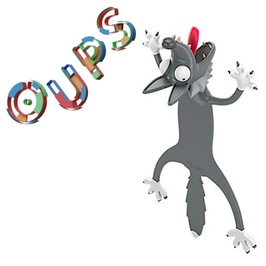 MARQUE-PAGE 3D OUPS - LOUP