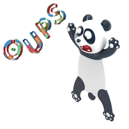 MARQUE-PAGE 3D OUPS - PANDA