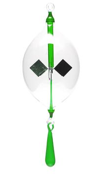 Lichtmühle | Radiometer Olive mit Tropfen klar/grün