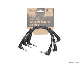 D'Addario Classic Series Patch Kabel 3er Pack