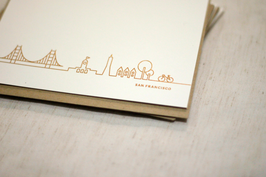 S.F Gold Embossing Greeting Card, set of 3