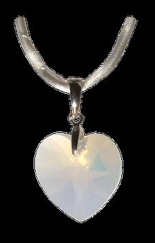 Swarovski-Kristallherz OPAL