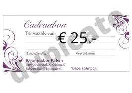 Cadeaubon € 25.-
