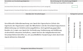 Informationsversand per Email oder Post (Marketing)