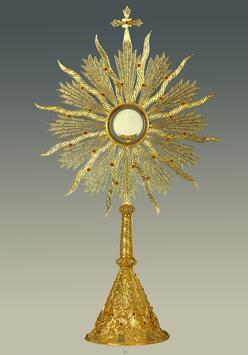 Ostensorio in filigrana d'argento mod. 956