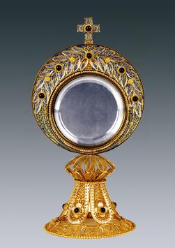 Ostensorio in filigrana d'argento mod. 692