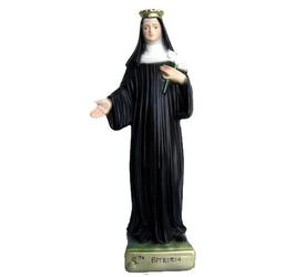 Statua Santa Patrizia cm. 28 in resina