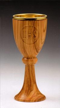 Calice in legno d' ulivo mod. 12106