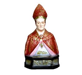 Statua San Gennaro cm. 15 in resina - busto
