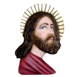Statua Volto Santo di Gesù cm. 50 in vetroresina
