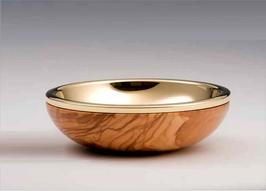 Pisside a ciotola in legno d'ulivo mod. 12105
