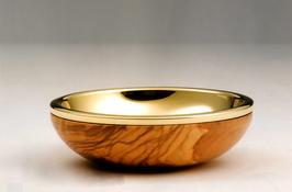 Pisside a ciotola in legno d' ulivo mod. 12105