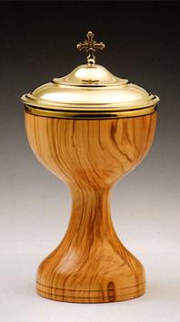 Pisside in legno d' ulivo mod. 12113