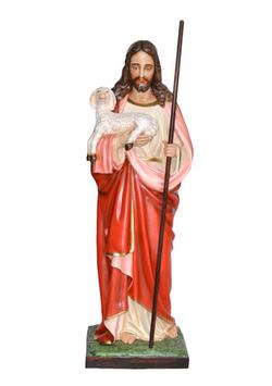Statua Sacro Cuore di Gesù buon pastore cm. 160