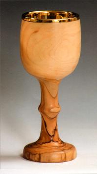 Calice in legno d' ulivo mod. 12115