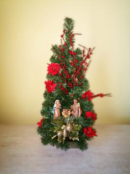 Albero di Natale con statue Natività modello Zircone