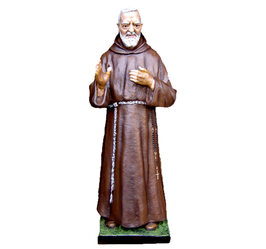 Statua San Padre Pio da Pietrelcina cm. 135 in vetroresina