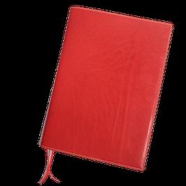 Notizbuchhülle für A4 aus rotem Naturleder
