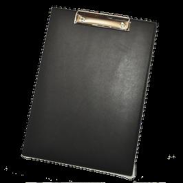 Klemmbrett aus schwarzem Leder