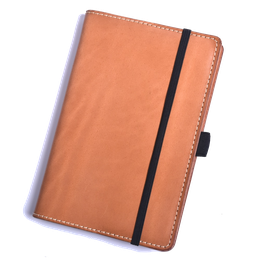 Lederhülle aus sonnengebräuntem Naturleder für Moleskine® Pocket